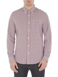 Ben Sherman Long Sleeve House Check Shirt Dark Blue