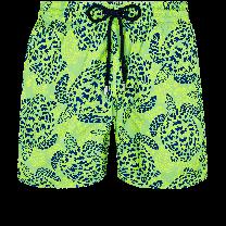 Vilebrequin Mahina Swim Short Jungle Turtles Hierba Verde