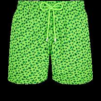 Vilebrequin Mahina Swim Short Micro Ronde des Tortues Verde Fluor