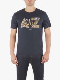 Ben Sherman A to Z Graphic Tee Staples Navy