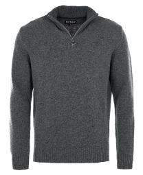 Barbour Essential Wool Half Zip Sweater Navy MIx