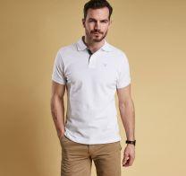 Barbour Tartan Pique Polo Shirt White