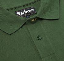 Barbour Tartan Pique Polo Shirt Racing Green