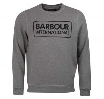 Barbour International Large Logo Sweatshirt Anthracite Marl