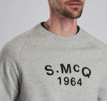 Barbour International Steve McQueen Raceway Sweatshirt Grey Marl