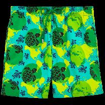 Vilebrequin Moorea Swim Short Mappemonde Dots TE MANA O TE MOANA