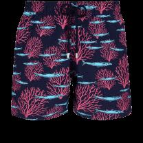 Vilebrequin Moorea Swim Short Coral & Fish Navy