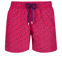 Vilebrequin Moorea Swim Short Micro Ronde des Tortues Goosberry Red