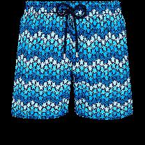 Vilebrequin Moorea Swim Short Herringbones Turtles Azul Marino