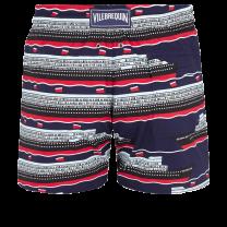 Vilebrequin Moorise Men Swimwear Stretch VBQ Cruise Lines Midnight Blue