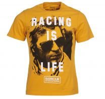 Barbour International Steve McQueen Life T-Shirt Desert Orange