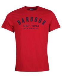 Barbour Ridge Logo T-Shirt Crimson