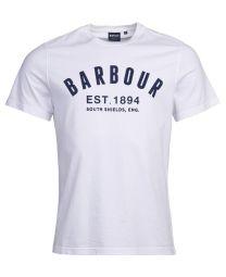 Barbour Ridge Logo T-Shirt White