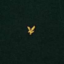 Lyle & Scott Crew Neck Cotton Merino Jumper Green