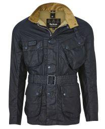 Barbour Lightweight SL International Waxed Cotton Jacket Navy