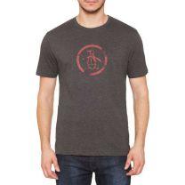 Original Penguin Distressed Circle Logo T-shirt Charcoal