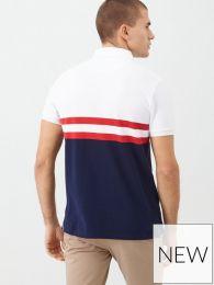 Lyle & Scott Yoke Stripe Polo Shirt White/Navy