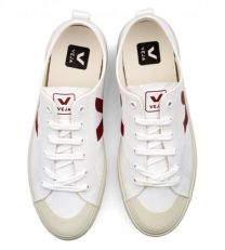 Veja Nova Low Canvas Sneaker White & Marsala