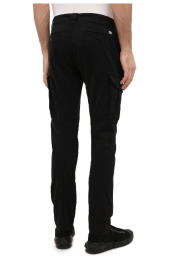 C.P. Company Garment Dyed Stretch Sateen Fitted Lens Pocket Cargo Pants