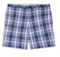 Ben Sherman Check Tailored Shorts Washed Blue