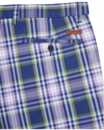 Ben Sherman Check Tailored Shorts Washed Blue