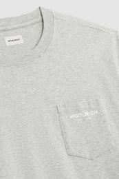 Woolrich Embossed Logo Pocket Tee Grey