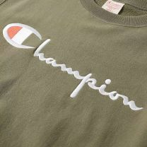 Champion Reverse Weave Script Logo Crew Sweat Charcoal