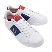 Fred Perry  B721 Leather Side Panel White