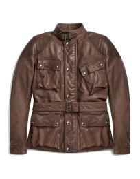 Belstaff Speedmaster Jacket Matte Brown Burnished Leather