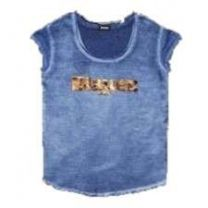 Blauer Logo Silk T-Shirt Blue