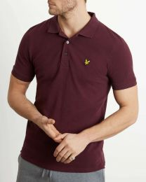 Lyle & Scott Plain Polo Shirt Burgundy