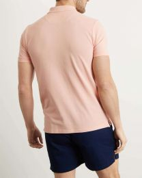 Lyle & Scott Plain Polo Shirt Coral Way