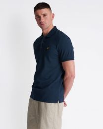 Lyle & Scott Plain Polo Shirt Navy