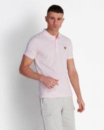 Lyle & Scott Plain Polo Shirt Strawberry Cream