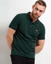 Lyle & Scott Plain Polo Shirt Jade Green