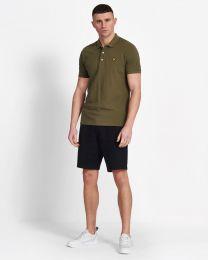 Lyle & Scott Plain Polo Shirt Lichen Green