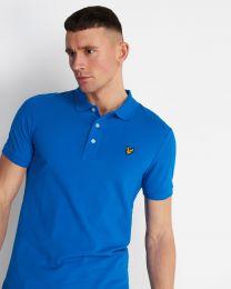 Lyle & Scott Plain Polo Shirt Bright Cobalt