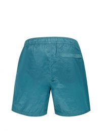 Stone Island Garment Dyed Nylon Metal Patch Logo Swim Short Turquoise