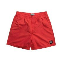 Stone Island B0946 Brushed Cotton Swimming Shorts Brick Red