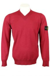 Stone Island 538C4 V-Neck Lightweight Wool Sweater V0014