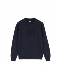 C.P. Company Light Fleece Mixed Garment Dyed Label Sweatshirt
