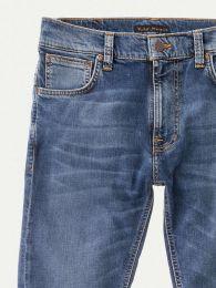 Nudie Jeans Thin Finn Mid Blue Ecru L32