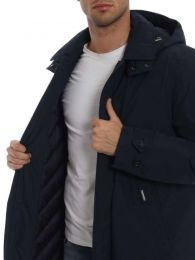 Woolrich City Coat Melton Blue