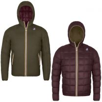 K-Way Jacques Thermo Plus Double Jacket Brown Olive & Dark Red