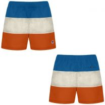 K-Way Hazel Inserted Swin Short Blue, Grey & Orange