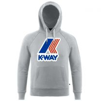 K-Way Sean FT Macro Logo Hooded Sweatshirt Grey Marl