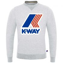 K-Way Augustine Macro Logo Crew Neck Sweatshirt White